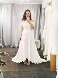 this fashion bride tried on all of whistles u0027 wedding dresses