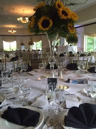 sunflower centerpiece floral centerpieces archives the clubhouse at patriot