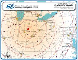 Mi County Map Muncie Delaware County Indiana Economic Development Alliance