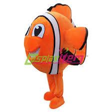 finding nemo mascot costume cartoon nemo golden fish mascot