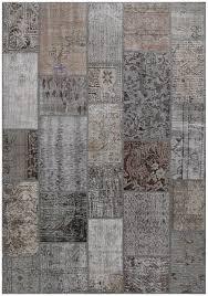 rugsville vintage turkish over dyed patchwork atmosphere rug 11065