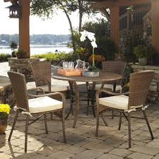 buy summon 9 piece outdoor patio dining set with cushions finish