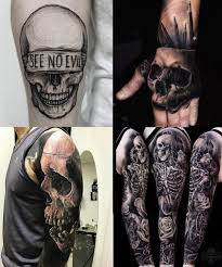 60 black and grey skull tattoos