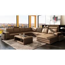 h et h canapé canapé d angle panoramique cuir marron 10 places h achat vente