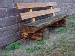 Rustic Log Benches - log benches for sale