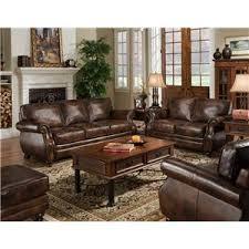 Saddle Brown Leather Sofa Sagle Classic Saddle Traditional Leather Sofa With Nail Head Trim