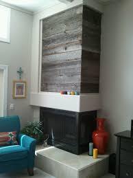reclaimed siding fireplace wall wrap porter barn wood