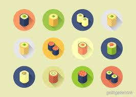 tutorial vektor dengan corel coreldraw tutorial how to create a flat design rolled sushi icon