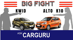 renault kwid on road price diesel maruti alto vs renault kwid the big fight carguru ह न द