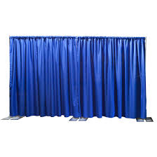 Portable Stage Curtain Ameristage Flexdrape 12 U0027 20 U0027 Adjustable Backdrop Wall Kit Amflxdr