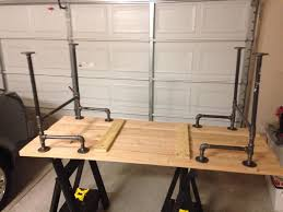 wood and pipe table black iron pipe table