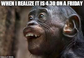 Chimp Meme - when i realize it s friday imgflip