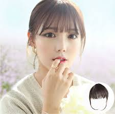 hair clip poni women party clip on front fringe only hair