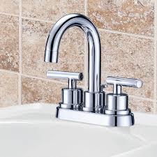 Glacier Bay Bathroom Faucets Glacier Bay Dorset 4 In 2 Handle High Arc Bathroom Faucet In
