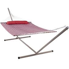 feet heavy duty steel hammock stand with hooks and chains for
