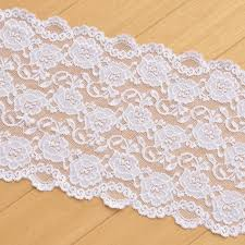 white lace 20cm 15cm wide thick white white black lace fabric