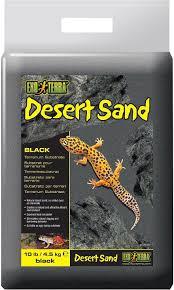 exo terra desert sand terrarium reptile substrate black 10 lb