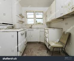 Dirty Kitchen Design Forgotten Empty Abandoned Dirty Kitchen Stock Photo 5771203