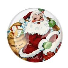 merry glass cabochons