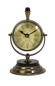Brass Desk Accessories by Amazon Com Imax 60082 Soren Brass Table Clock And Compass Home