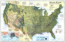 physical map of the united states united states the physical landscape map