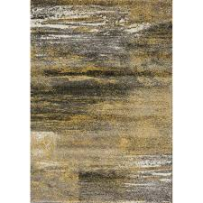 Grey Modern Rug Distressed Pattern Rug Grey Yellow Kalora Interiors Inc