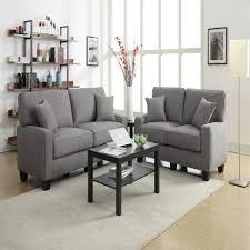 serta rta martinique kona gray espresso polyester sofa cr45234b