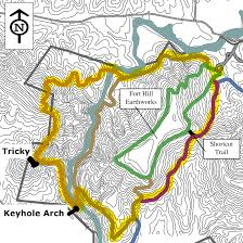 Logan Ohio Map by Fort Hill Canby U0027s Mountain Lover Trail And Keyhole Arch Trekohio