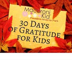 30 days of gratitude for macaroni kid
