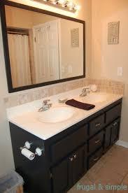 Black Bathroom Cabinet Painting The Bathroom Vanity Frugal Simple