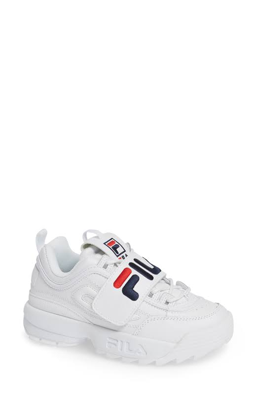Fila Disruptor Ii Applique White / Navy Red Low Top Leather Running 7M