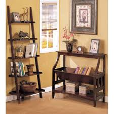 furniture home furniture leaning shelf bookcase with computer