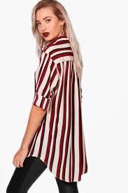 oversized blouse striped oversized blouse boohoo
