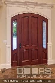 Exterior Wood Doors With Glass Panels by 4 Panel Solid Mahogany Wood Door With Sidelites Wood Front Entry