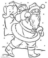 santa claus coloring pages kids free merry christmas
