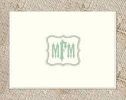 monogram stationery monogram stationery etsy