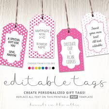 instant download printable favor tags with polka dot designs