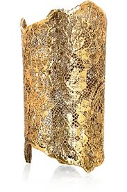 dipped in gold diy faux metal lace cuff this is dipped in gold hack