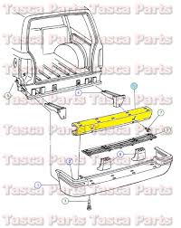 1998 jeep grand bumper oem mopar rear bumper reinforcement bar 1997 1998 jeep grand