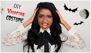 diy last minute vampire halloween costume mallory patrice youtube