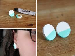 home made earrings colorblock earrings craft