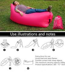 Instant Bed Inflatable Sleeping Lay Bag Hangout Instant Chair Couch Hammock
