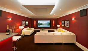 astonishing exotic home theater design ideas with white fabric