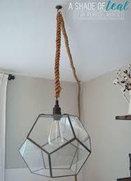 Diy Light Fixtures Diy Glass Pendant Light Diy Light Fixtures You Can Make For