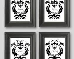 Damask Kitchen Curtains by Black And White Damask Bathroom Decor Unwind Enjoy Bathroom Decor