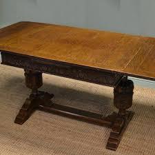 antique draw leaf table quality edwardian oak draw leaf pineapple antique dining table