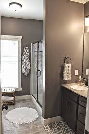 brown and white bathroom ideas master bath wall faux wood ceramic tile walls mink