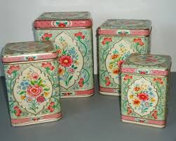 vintage metal kitchen canister sets 116 best retro cannisters images on vintage canisters
