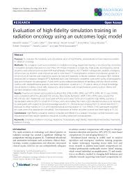 evaluation of high fidelity simulation training in radiation