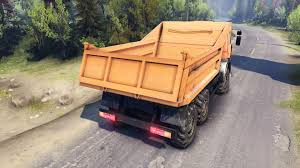 6520 dump truck 6x6 for spin tires